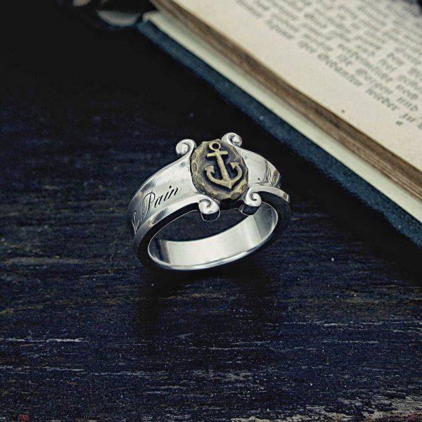 錨の指輪、シルバーアクセサリー